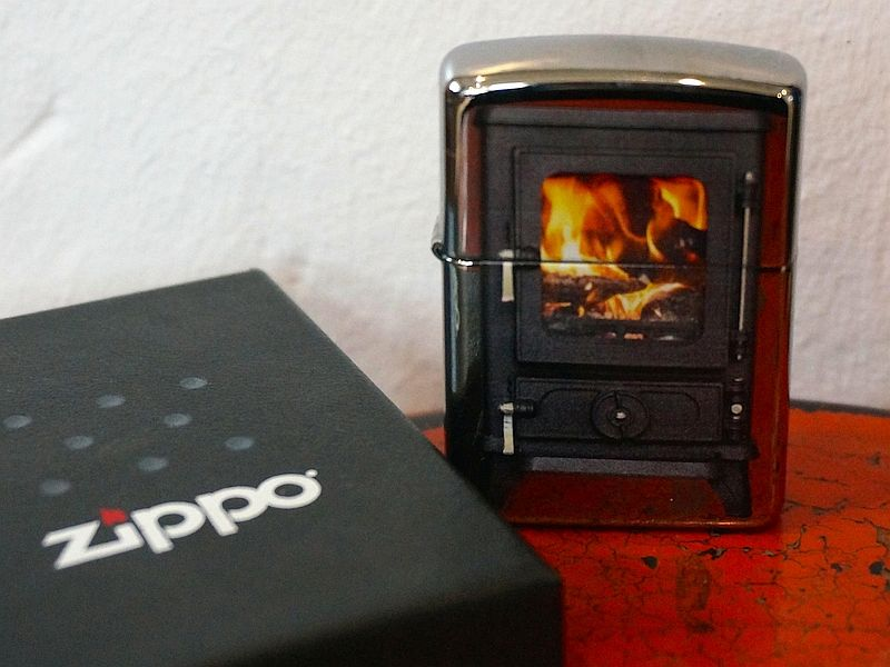 Get your free zippo lighter when ordering a salamander tiny woodstove