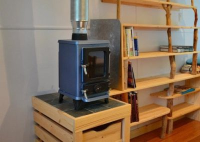 Small stove installed a small room