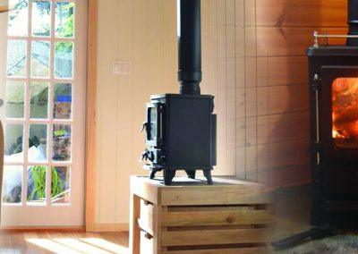 The Small Salamander Stove in a small space